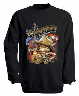 S-Shirt mit Print - American Way... - S10249 - versch. farben zur Wahl - Gr. schwarz / XXL