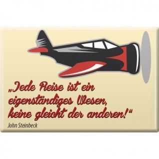 Magnet - Jede Reise... - Gr. ca. 8 x 5, 5 cm - 38355 - Küchenmagnet