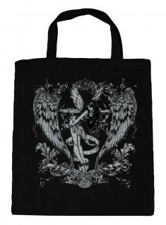 (U10898)Umweltfreundliche Baumwoll - Tasche , ca. 28 x 43 cm mit Aufdruck in 7 Farben schwarz