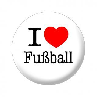 Magnet - I love Fußball - Gr. ca. 5, 7cm - 16229 - Küchenmagnet