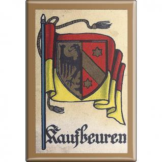 Küchenmagnet - Wappen Kaufbeuren - Gr. ca. 8 x 5, 5 cm - 37532 - Magnet Kühlschrankmagnet