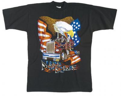 T-SHIRT mit Print - LKW Truck Adler - Hard to Ride - 09892 schwarz - XL