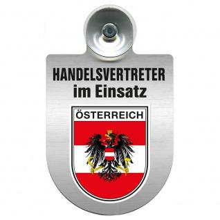 Einsatzschild Windschutzscheibe incl. Saugnapf - Handelsvertreter im Einsatz - 309367 Region Österreich