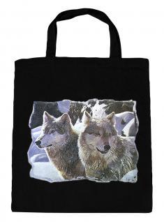 (08870/2-schwarz) Umweltfreundliche Baumwoll - Tasche , ca. 28 x 43 cm mit Aufdruck