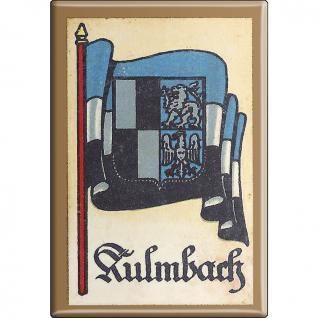 Küchenmagnet - Wappen Kulmbach - Gr. ca. 8 x 5, 5 cm - 37534 - Magnet Kühlschrankmagnet - Vorschau 1