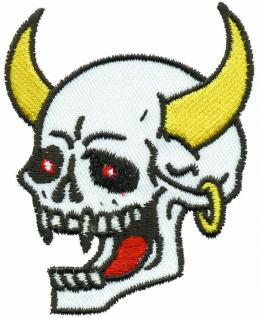 AUFNÄHER - Totenkopf - 03211 - Gr. ca. 7 x 9 cm - Patches Stick Applikation
