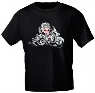 Kinder T-Shirt mit Aufdruck - Bike Baby - 06962 - schwarz - Gr. 122/128