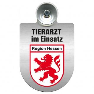 Einsatzschild Windschutzscheibe incl. Saugnapf - Tierarzt im Einsatz - 309390 Region Hessen