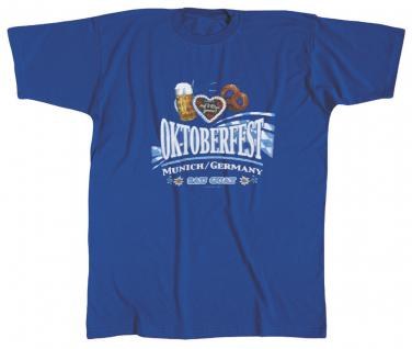 T-Shirt - Oktoberfest Munich/Germany - 09900 blau - Gr. M