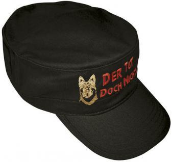 Militarycap - Spass - Cap mit Stick - Schäferhund ... Der tut doch nichts - 60502 schwarz - Cap Kappe Baumwollcap Baseballcap