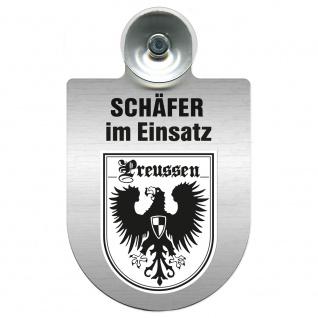 Einsatzschild Windschutzscheibe incl. Saugnapf - Schäfer im Einsatz - 309387 - Region Preussen
