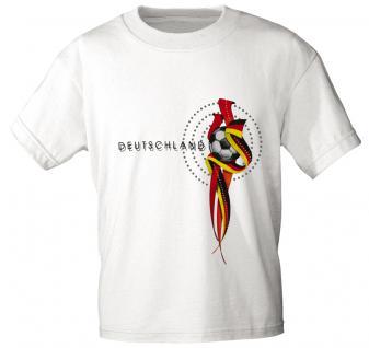 Girly-Shirt mit Print - DEUTSCHLAND - 78557 - weiß / L