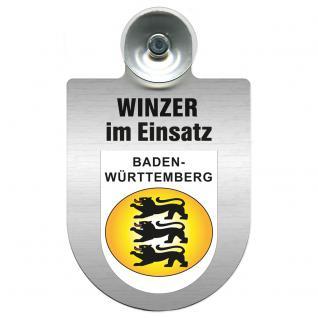Einsatzschild Windschutzscheibe incl. Saugnapf - Winzer im Einsatz - 309466-1 Region Baden-Württemberg