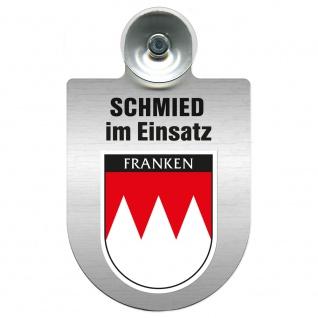 Einsatzschild Windschutzscheibe incl. Saugnapf - Schmied im Einsatz - 309462 - Region Franken