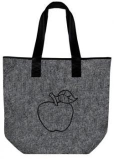 Filztasche mit Einstickung - APFEL - 26038 - Shopper Tasche Umhängetasche Bag - Vorschau
