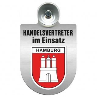 Einsatzschild Windschutzscheibe incl. Saugnapf - Handelsvertreter im Einsatz - 309367 Region Hamburg