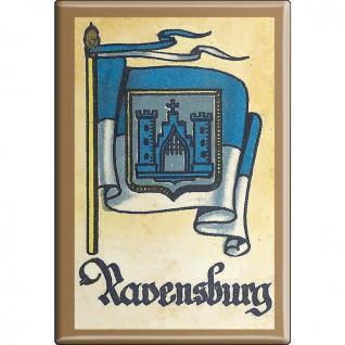 Küchenmagnet - Wappen Ravensburg - Gr. ca. 8 x 5, 5 cm - 37544 - Magnet Kühlschrankmagnet