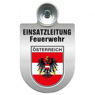 Einsatzschild Windschutzscheibe incl. Saugnapf - Einsatzleitung Feuerwehr - 309476 Region Österreich