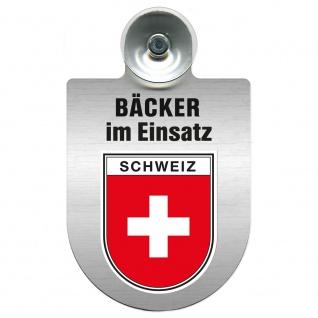 Einsatzschild Windschutzscheibe incl. Saugnapf - Bäcker im Einsatz - 309748 - Region Schweiz