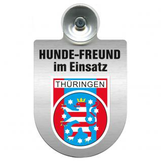Einsatzschild Windschutzscheibe incl. Saugnapf - Hundefreund im Einsatz - 309359-13 - Region Thüringen