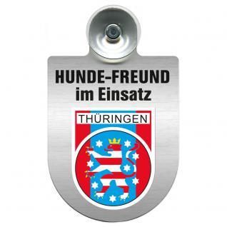 Einsatzschild Windschutzscheibe incl. Saugnapf - Hundefreund im Einsatz - 309383 Region Thüringen