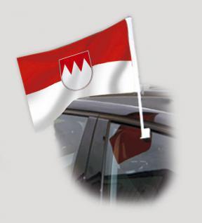 Autoscheibenfahne - Wappen Franken - Gr. ca. 40x30cm - 07930 - Fanflagge mit Autoscheibenhalterung, Fahne