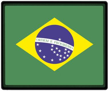 Mousepad Mauspad mit Motiv - Brasilien Fahne Fußball Fußballschuhe - 82029 - Gr. ca. 24 x 20 cm