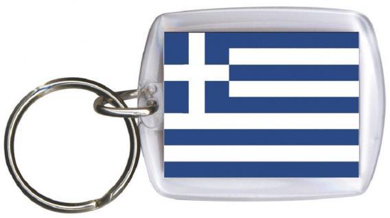 Schlüsselanhänger Anhänger - GRIECHENLAND - Gr. ca. 4x5cm - 81056 - WM-Länder