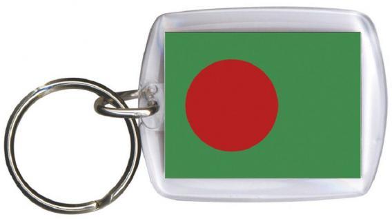 Schlüsselanhänger Anhänger - BANGLADESCH - Gr. ca. 4x5cm - 81021 - WM Länder