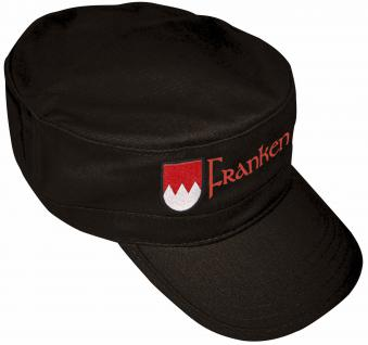Military-Schirmmütze mit Bestickung - Wappen Franken - 60496 schwarz - Baumwollcap Baseballcap Hut Cap Cappy