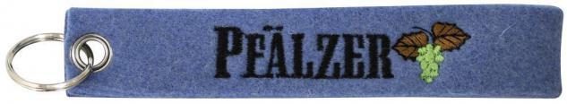 Filz-Schlüsselanhänger mit Stick Pfälzer Gr. ca. 17x3cm 14183 blau