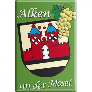 Kühlschrankmagnet - Alken an der Mosel - Gr. ca. 8 x 5, 5 cm - 38737 - Küchenmagnet