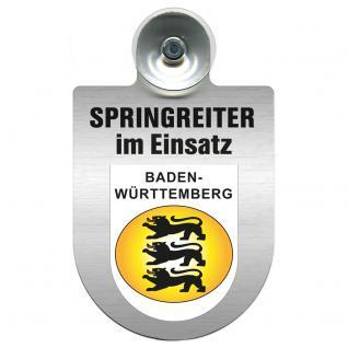 Einsatzschild Windschutzscheibe incl. Saugnapf - Springreiter im Einsatz - 309380-1 Region Baden-Württemberg
