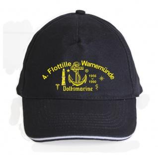 Baseballcap mit Einstickung 4. Flottile Warnemünde Volksmarine - 69955 dunkelblau