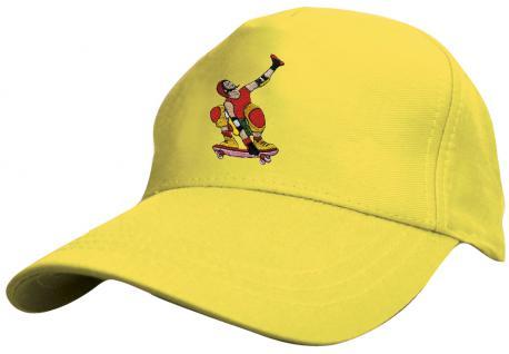 "Kinder - Cap mit cooler Skater-Bestickung - Skateboard Skater - 69130-2 gelb - Baumwollcap Baseballcap Hut Cap Schirmmützein 5 Farben "" Skater"" gelb"