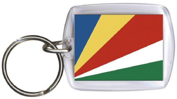Schlüsselanhänger Anhänger - SEYCHELLEN - Gr. ca. 4x5cm - 81147 - Keyholder WM Länder