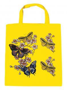 (06991-2)Umweltfreundliche Baumwoll - Tasche , ca. 28 x 43 cm mit Aufdruck in 7 Farben gelb