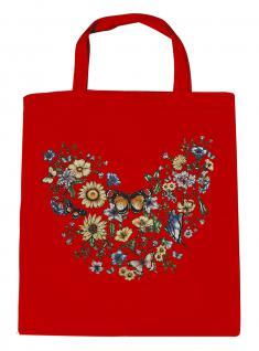 (U09840)Umweltfreundliche Baumwoll - Tasche , ca. 28 x 43 cm mit Aufdruck in 7 Farben rot