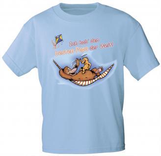 Kinder T-Shirt mit Print - Ich hab den besten Papa der Welt - 08225 - hellblau - Gr. 134/146