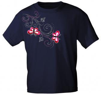 (12853) T- Shirt mit Glitzersteinen Gr. S - XXL in 16 Farben XXL / Navy