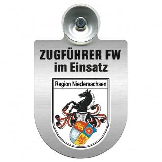 Einsatzschild Windschutzscheibe incl. Saugnapf - Zugführer Feuerwehr im Einsatz - 309749 - Region Niedersachsen