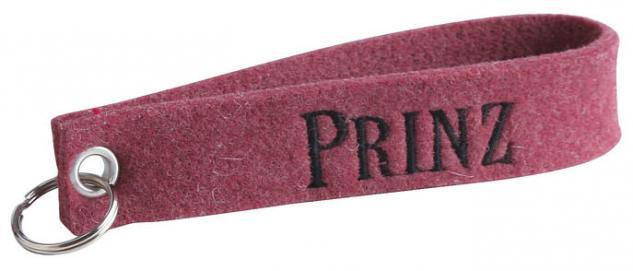 Filz-Schlüsselanhänger mit Einstickung - Prinz - Gr. ca. 17x3cm - 14066