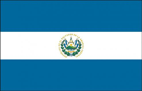 Auto-Flagge - El Salvador - Gr. ca. 40x30cm - 78045 - Länderflagge mit Klemmstab - Autoländerfahne