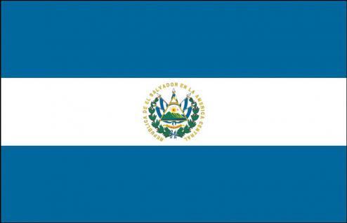 Stockländerfahne - El Salvador - Gr. ca. 40x30cm - 77045 - Schwenkfahne Länderfahne