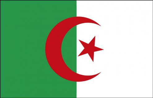 Autoländerfahne - Algerien - Gr. ca. 40x30cm - 78009 - Flagge, Länderfahne mit Klemmstab, Deko-Fahne