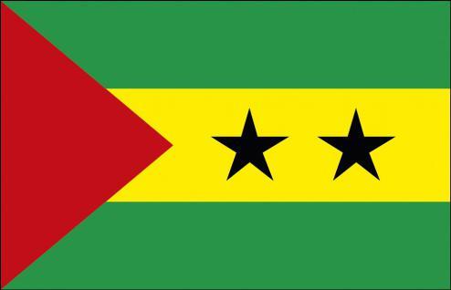 Schwenkfahne mit Holzstock - Sao Tome - Gr. ca. 40x30cm - 77136 - Länderflagge, Stockländerfahne