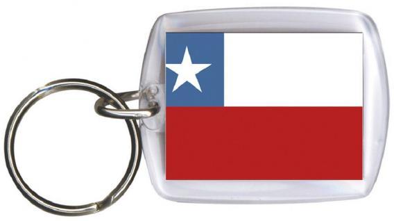 Schlüsselanhänger - CHILE - Gr. ca. 4x5cm - 81036 - WM Länder