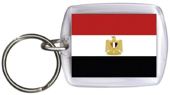 Schlüsselanhänger - ÄGYPTEN - Gr. ca. 4x5cm - 81001 - WM Länder Anhänger Keyholder
