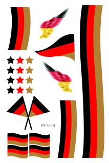 Haut- Tattoo´s 9tlg Einmal-Tattoo Deutschland 77883