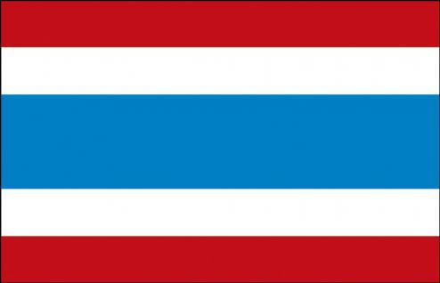 Länderflagge - Thailand - Gr. ca. 40x30cm - 77167 - Flagge, Dekofahne, Stockländerfahne